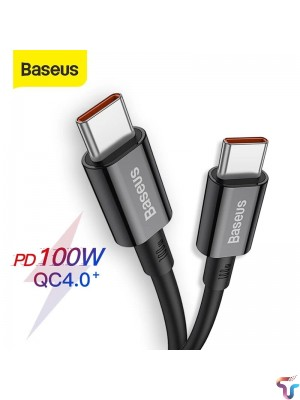 Baseus Superior Series 100 W Fast Charging Type C To Type C Data Cable 1m – Black