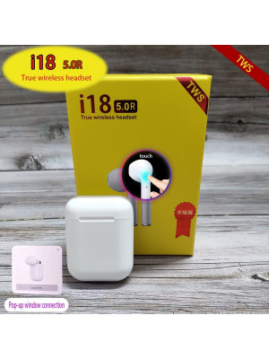 I18 TWS Original Wireless Airpods Earphones Bluetooth 5.0 Earphone Stereo Headsets Wireless Earbuds