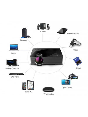UNIC UC46 - Wifi Portable 1200 Lumens Mini Projector 1080P