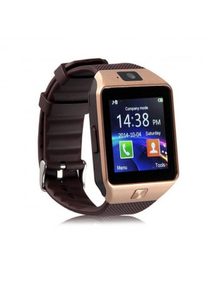Android DZ09 - Smart Watch with GSM Slot - Golden