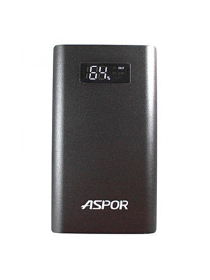 Aspor Q388 Qualcomm Quick Charge 3.0 10000 mAh Power Bank - Black