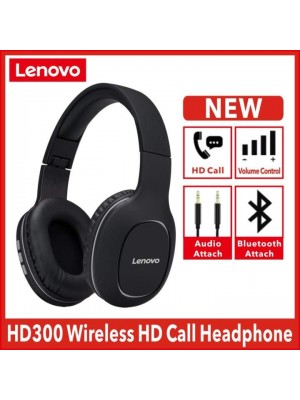 Lenovo HD300 Wireless Headphones Bluetooth 5.0 Headset Subwoofer Sports Running Headset Unisex Noise Reduction Video Call