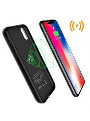 Baseus 5000mAh Power Bank Wireless Charge Charging Receiver With Magnetic Case Cover For iPhone X