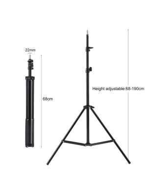 Tripods, LED SelfieRing Light Tripod Stand 7 Feet Tripod stand for Mobile, Camera Selfie Stand 7 feet stand 7 foot stand Flash Light Camera stand 2.1m Selfie Stand