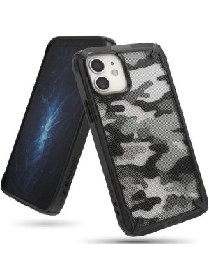 Ringke Fusion-X Design Case iPhone12 Pro Max - Camo Black