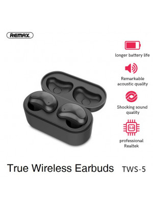 Twin TWS-5 Remax Wireless Bluetooth Headsets Earphone Headset With Charging Touch Box Stereo earphones Bluetooth 5.0 Smart