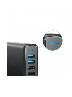 Original Anker A2054J11 Power Port Speed 5 Qualcomm Dual QC 3.0 USB Quick Charger With Power IQ 63W