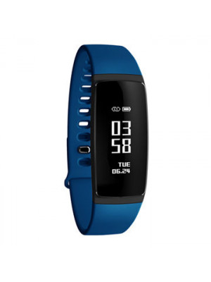 V07s Sports Blood Pressure Heart Rate Monitor Health Band - Blue