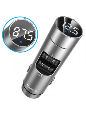Baseus Energy Column Car Charger Wireless Bluetooth Handsfree FM Transmitter MP3 Player Receiver Dual USB Phone Charger