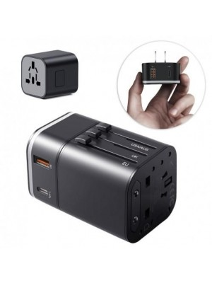 Baseus Removable 2 in1 Universal Travel Adapter (TZPPS-01), PPS Quick Charger Edition, 3.0 Fast Charging Wall Plug Socket