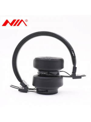 Original NIA X6 Stereo Wireless Bluetooth Headphones with Mic Support TF Card FM Radio APP
