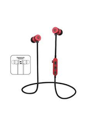 MS-T9 Bluetooth Magnetic Earphone with TF Card Red
