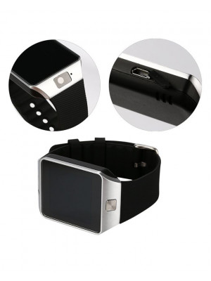 DZ-09 Bluetooth Smart Watch With Camera & Sim Black