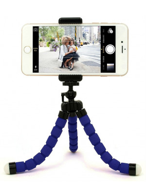 Flexible Octopus Tripod Stand Small - Blue
