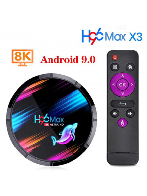 H96 MAX X3 8K Amlogic S905X3 TV Box Android 9.0 4GB 32GB Dual WiFi BT Smart Android TV Set Top Box
