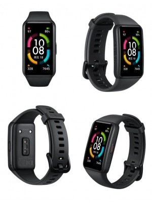 "Huawei Honor Band 6 Smart Wristband Bracelet 1.47"" Full Screen AMOLED Color Touchscreen SpO2 Swim Heart Rate Sleep Nap Stress"