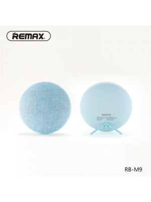 Remax RB-M9 Canvas Fabric Hi-Fi Stereo Bluetooth Speaker - Blue