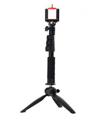 Yunteng YT-1288 Professional Selfie Stick with Tripod Stand - Black