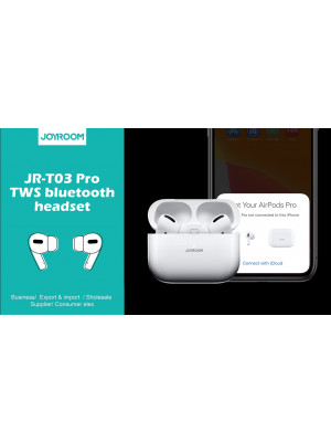 Joyroom JR-T03 Pro True wireless bilateral bluetooth earbuds Airpods Pro With Noise cancellation and Transparency mode