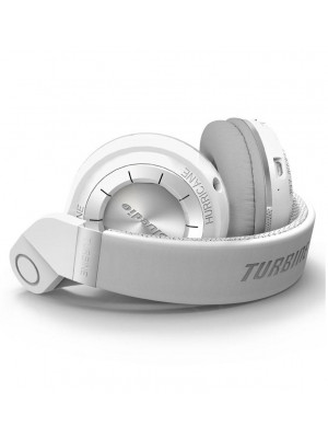 BLUEDIO T2+ Turbine Wireless Bluetooth 4.1 Headphone with Mic - White