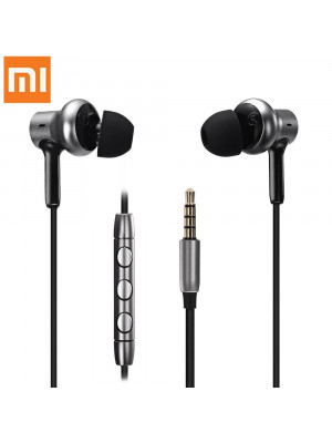 Xiaomi Hybrid Pro HD Dual Drivers Wired Control Earphone Headphone With Mic - Silver
