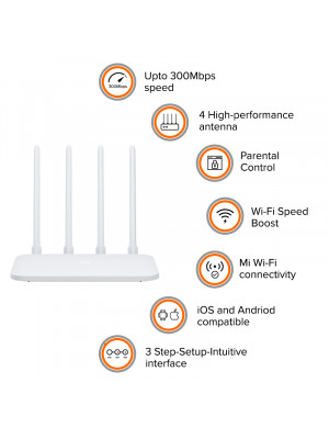 Xiaomi Mi 4C Router 300Mbps Wireless WIFI Router 5dBi 2.4GHz 802.11a/b/g Wireless Router with four Antennas for Home Office