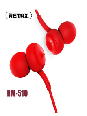 Remax RM-510 concave-convex Stereo Wired Music Earphone in-ear - Red