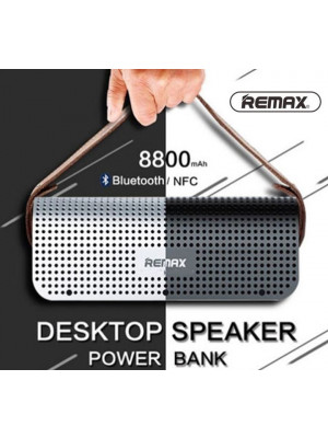 REMAX RB-HI Bluetooth 4.0 Portable Speakers Multi-Function Power Bank - Silver
