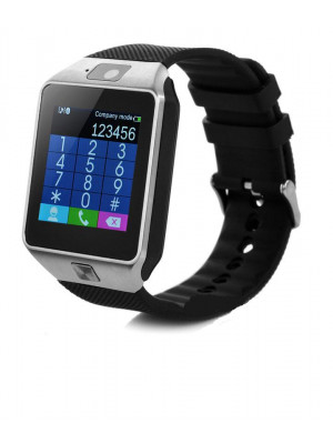 DZ-09 Bluetooth Smart Watch With Camera & Sim – Silver & Black