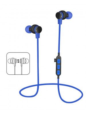 MS-T1 Magnetic Wireless Bluetooth 4.2 Sport Earphone With Mic MP3 - Blue