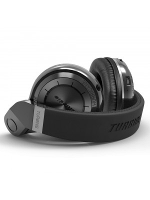 BLUEDIO T2+ Turbine Wireless Bluetooth 4.1 Headphone with Mic - Black