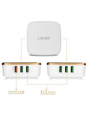 LDNIO A6704 Qualcomm 3.0 Quick Charge 6 USB Ports With Auto ID Desktop Charger