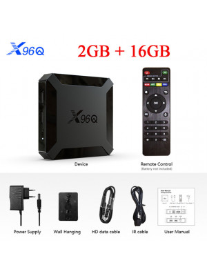 2020 X96Q TV Box Android 10.0 2GB 16GB Quad Core 4K 2.4G Wifi Android 10.0 Set Top Box Media Player