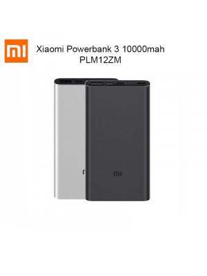 Xiaomi Mi Power Bank 3 10000mAh Two-way Quick Charge 18W QC3.0 USB-C Type-C Dual Input Output PLM12ZM 2019 PowerBank
