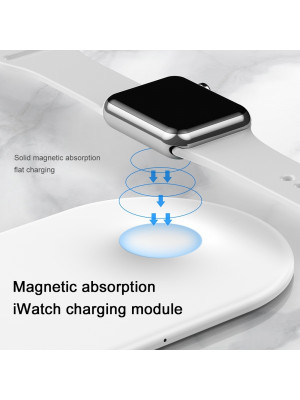 Baseus WX2IN1P20-02 New Smart 2 in1 10W Qi Fast Wireless Charger For i Watch & iphone