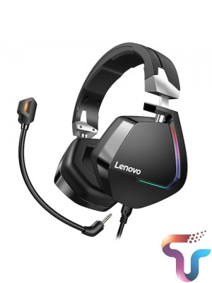 Lenovo H402 Gaming Headset Wired Earphones Surround Sound RGB Colourful Light Deep bass in-ear with Mic