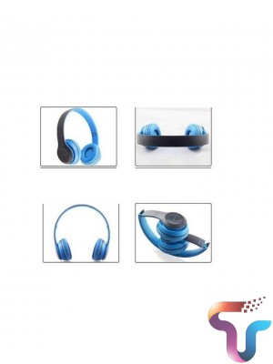 P47 Active Collection Bluetooth Foldable Headphone - Blue