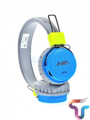 NIA XP1 Wireless Bluetooth Folding Sports Headphones With APP Support - Blue