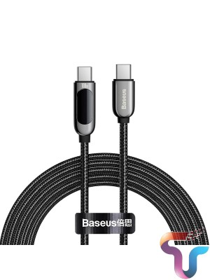 Baseus Type-C To Type-C 100W Display Fast Charging Data Cable -1m