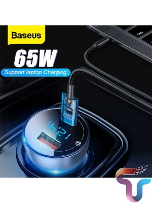 Baseus Particular 65W Car Charger QC+PPS Dual Quick Charger Type C Fast Charging Auto Charger Adapter