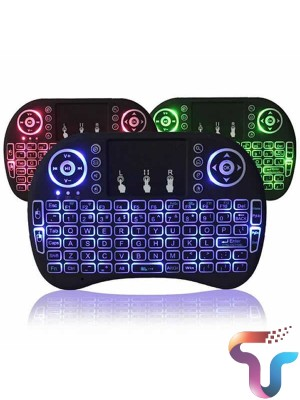 Mini Touch Pad Rf 500 Wireless Keyboard Mouse 3 color Backlight