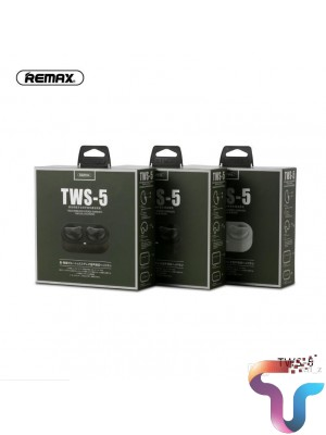 Remax TWS-5 Wireless Bluetooth Earphones Twins Earphone With Charging box headsets Bluetooth 5.0 Smart Touch 3D Stereo