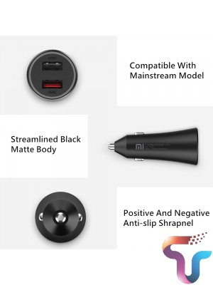 Xiaomi CC06ZM Car Charger Fast Charge Version 37W Standard Dual Port USB Fast Charge Safety