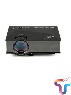 UNIC UC68 multimedia Home Theatre 1800 lumens led projector with HD 1080p Support Miracast Airplay
